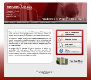 Web Design for Anniston OB-GYN