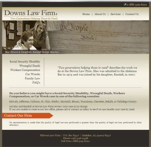 Downs Law Home Page