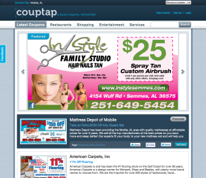 Couptap.com Screen Shot