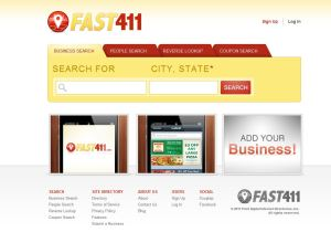 Fast411.com Screenshot